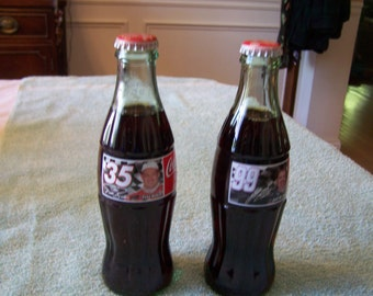 1998 - Set of Two (2) -  NASCAR Coke Bottles