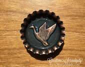 Copper Bottlecap Magnet Elegant Duck