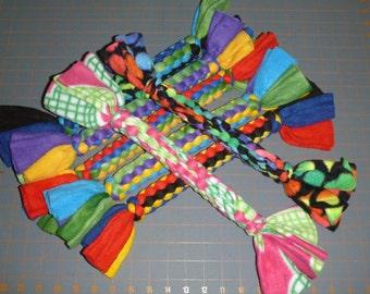 Fleece rope dog toy medium large