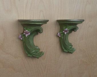 Floral Wall Shelves/Sconces