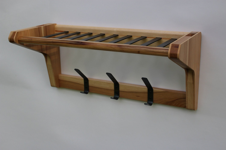 entryway organizer coat rack with shelf mid century modern. Black Bedroom Furniture Sets. Home Design Ideas