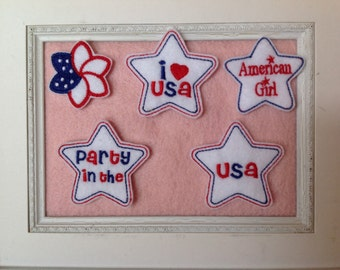Patriotic Felties, love the USA , Party in the USA  your choice
