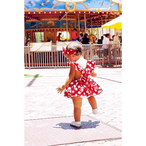 Little Polka Dot Mouse Inspired Romper In By
