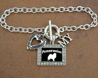 Heart My Pomeranian Bracelet