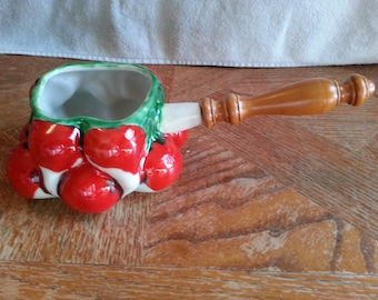 Vintage Mancioli Italy Cherries Dip or Soup Serving Bowl