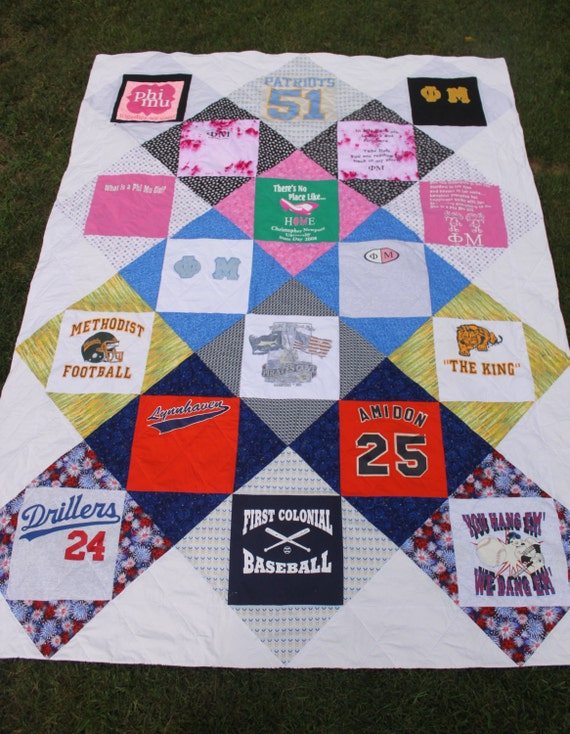 T Shirt Quilt Pattern Queen Cliefo For