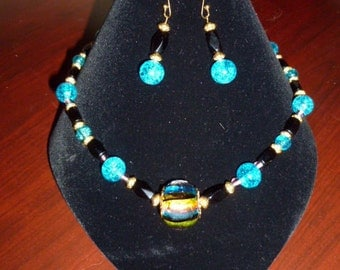 Sing A Rainbow necklace and earring set/jewelry set
