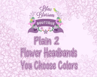 Adjustable Headband Add On 2 Flower Shabby Chic Baby Headband Bundle
