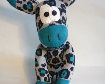 donkey plush softie plushie sock animal
