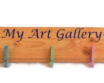 Kids Art Display, Childrens art holder, Masterpieces, Art display, kids art sign, kids artwork display, kids art hanger