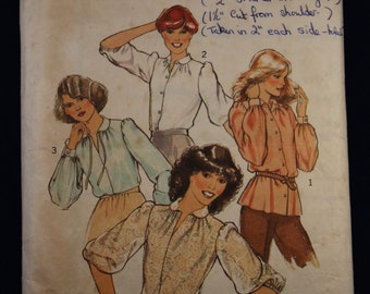 Sewing Pattern Style 2408 for a 1970's  Woman's Blouse in Size 12
