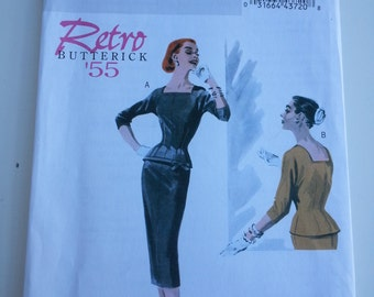 Wiggle dress/marilyn monroe / sexy suit/mother bride outfit/ Madmen /2010 sewing pattern, Bust 30 31 32 34, size 6 8 10 12, Butterick B 5557