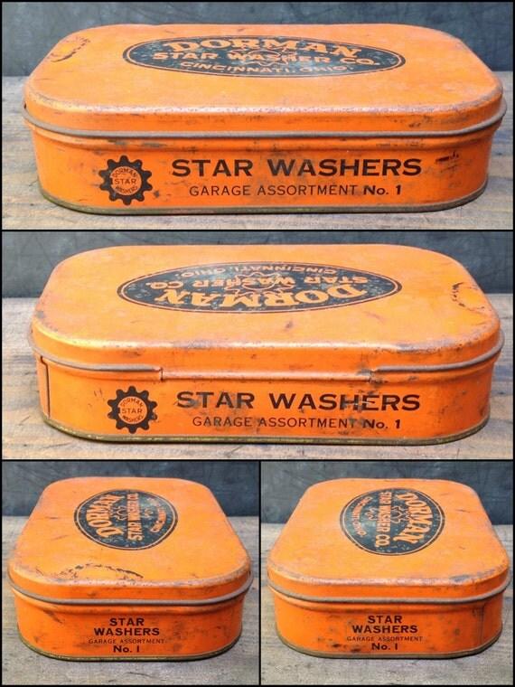 Vintage Dorman Star Washer Co Tin Garage By Misinterpreted