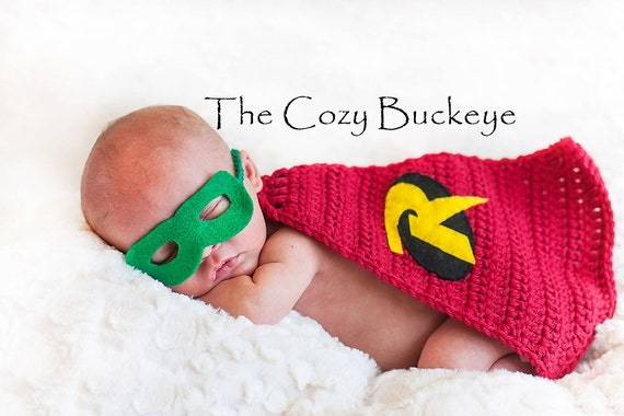 Free Crochet Pattern Baby Capelet : Instant Download Crochet Pattern Baby Robin Cape & Felt Mask