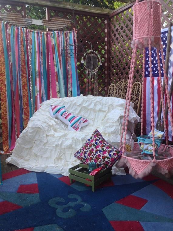 Curtains Gypsy Junk Curtain Hippie Curtains American Dream Curtain ...