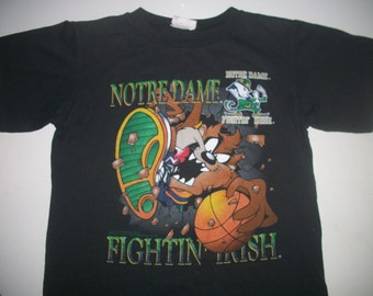 Notre Dame FIGHTING IRISH t shirt basketball 1995