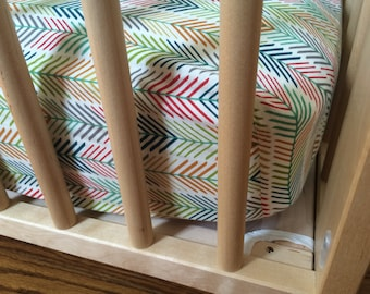 Organic Feather Crib Sheet - Fitted