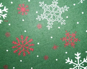 Red and white snowflake material for gift bags and wine bottle bags
