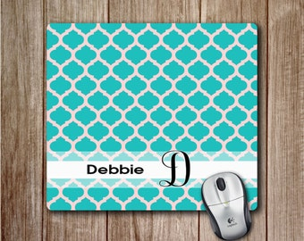 Monogram Mousepad | Teal Mousepad with personalization