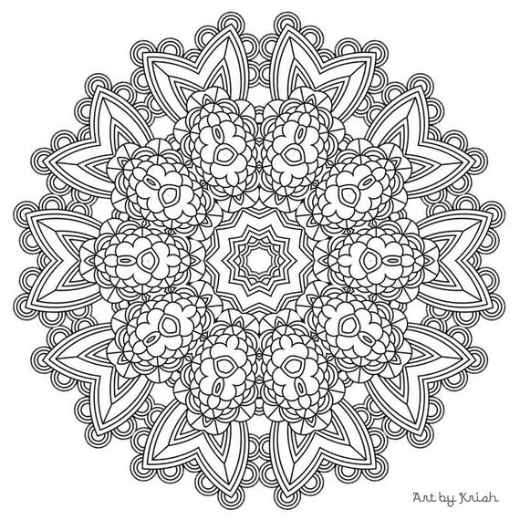 intricate mandala coloring pages free - photo#13