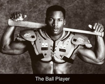 """Bo Jackson """"The Ball Player"""" 1990s style poster 24 x 36"""