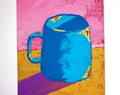 "The Morning Cup of Coffee #92 (ARTIST TRADING CARDS) 2.5"" x 3.5"" by Mike Kraus Free Shipping"