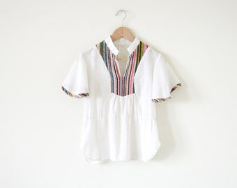 70s boho blouse  / white top / bohemian blouse