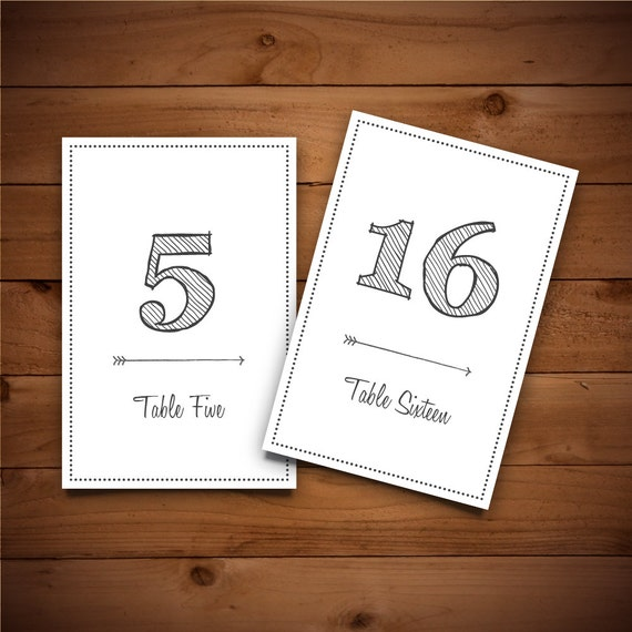 items similar to printable table number template wedding. Black Bedroom Furniture Sets. Home Design Ideas