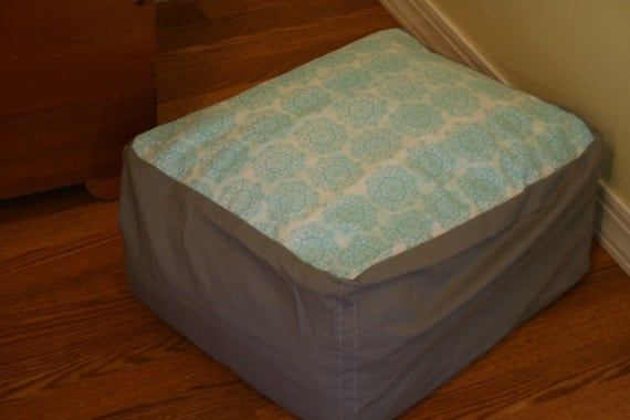 Bean bag style lounge chair cover for stuffed animals or