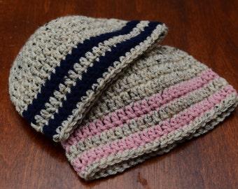 Baby Twin Hats, Crochet Baby Hats, Twin Photo Hats, Hospital Hats, Crochet Twin Hats, Twin Baby Girl Hats, Twin Baby Boy Hats