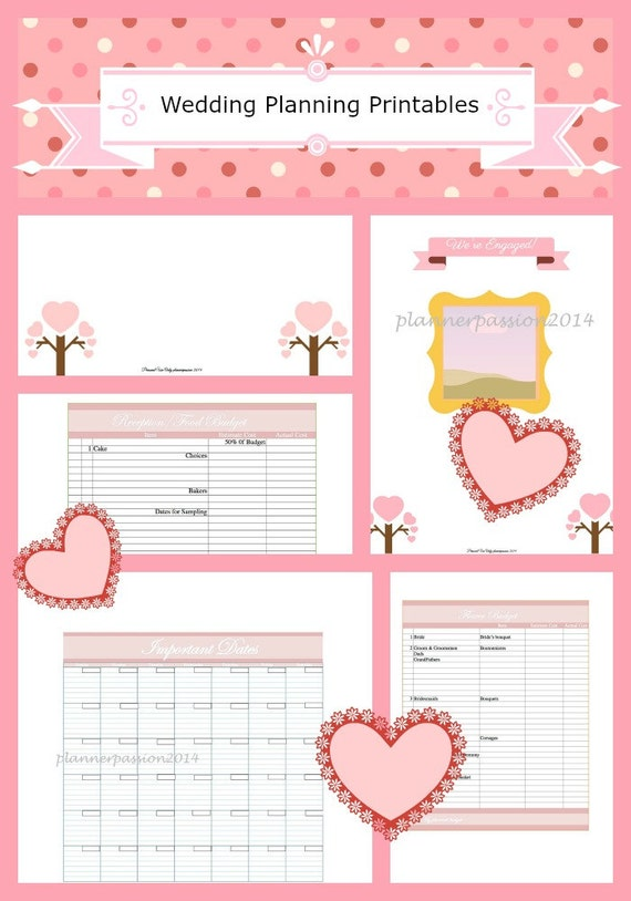 Printable Wedding Budget Planner Expense Tracker Bill Tracker