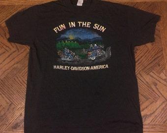 Vintage 70's Harley Davidson Tshirt RARE