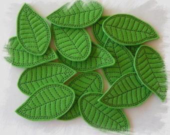 Frangipani Leaf Feltie In The Hoop (ITH) Machine Embroidery Design