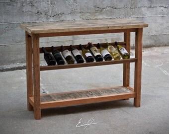 Reclaimed Wood Wine Hutch