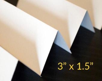 "Blank straight cut placecards - hand cut- 3"" x 1.5"""