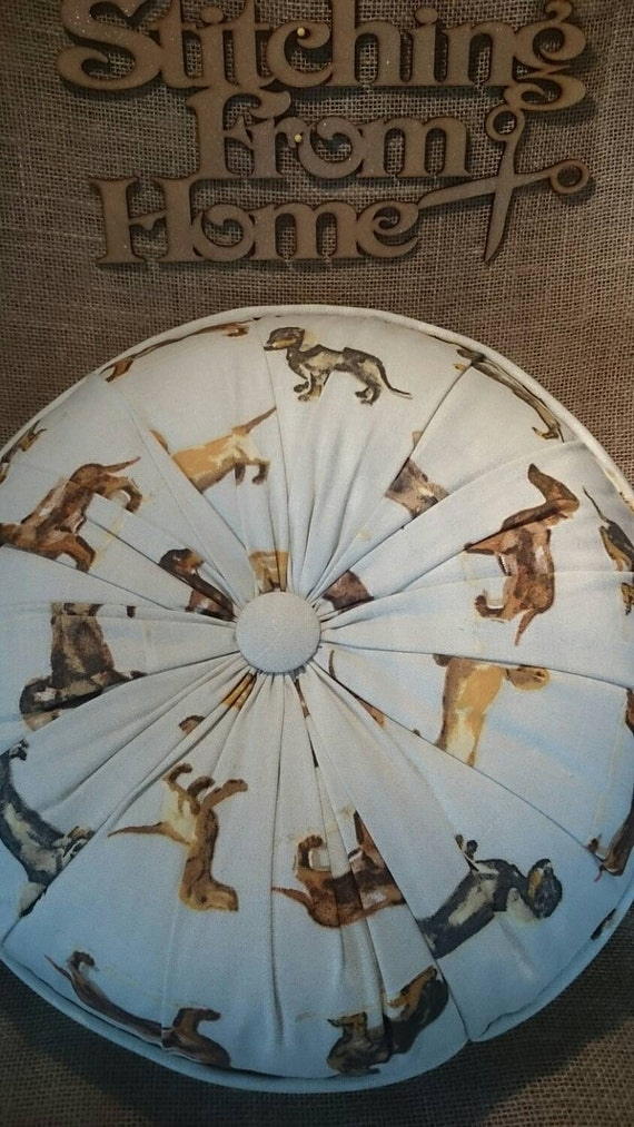 handmade round cushion in prestigious fabric deutschland dog/ sausage ...