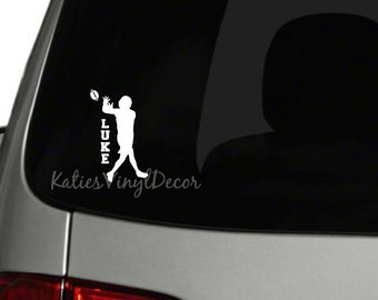 Football Car Decal Etsy - Custom car decals nz   how to personalize