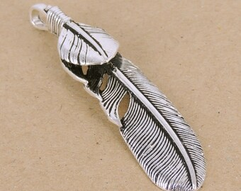 Sterling Silver 925 Vintage Celtic Feather Pendant Eagle Stamp WSP345 Wholesale: See Discount Coupons in Item Details