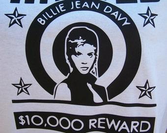 Legend of Billie Jean- Billie Jean Davy wanted poster on Tshirt