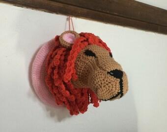 Lion head hunting trophy amigurumi pattern