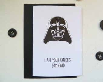 Star Wars Father's Day Card, Father's Day Card, I am Your Father, Darth Vader Card
