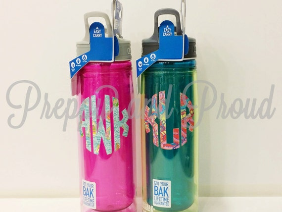 Lilly Pulitzer Inspired Monogrammed Insulated Water Bottle