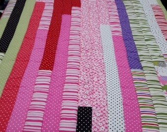 Child's Candy Stripe Quilt