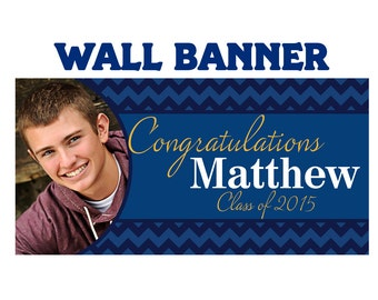 Graduation Scholar Photo Banner ~ Personalized Party Banners  Class of 2017, Graduation Banner, Custom Banner, Printed Banner