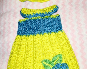 Lovely summer dress and hat set
