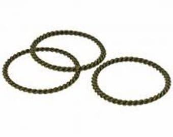 Twisted Rings 20mm - Black Nickel - Pack 15