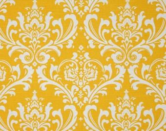 Yellow Valance. Yellow Damask valence. Yellow Kitchen Valance.Valance Curtain.