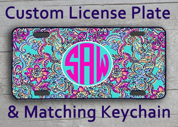 Custom Monogrammed personalized license plate. by ...