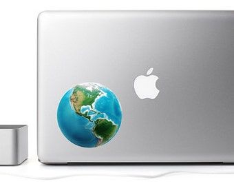 Globe vinyl wall car laptop decal/sticker