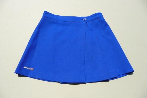 vintage 1980 s ellesse tennis royal blue wrap around skirt